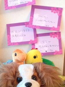 七夕のお願い事とパピヨンと亀